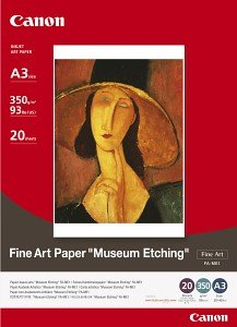 Canon FA-ME1 Fine Art Museum Etching A3+, 350g, 20 Blatt (1262B007)