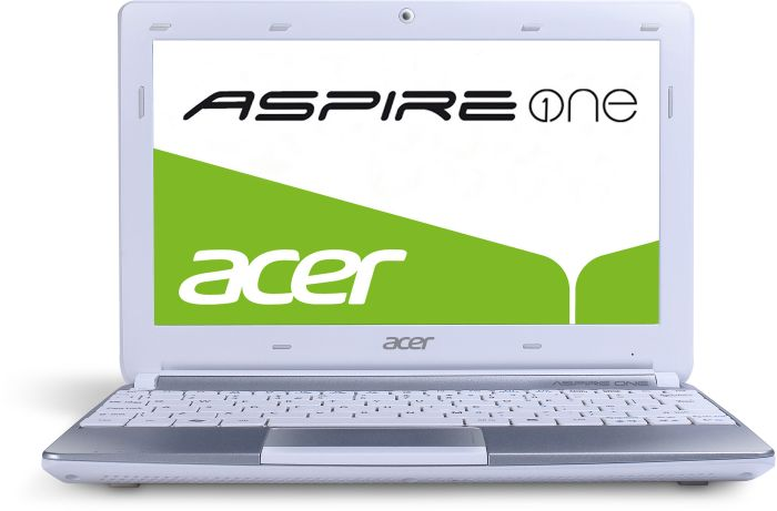 Acer Aspire One D270, Atom N2600, 1GB RAM, 320GB, Windows 7 Starter, Li-Ion battery (3 cells), white, UK (NU.SGEEK.001)