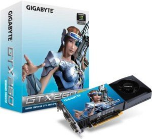 Gigabyte GeForce GTX 260 OC 216,  896MB DDR3, 2x DVI, TV-out (GV-N26OC-896H-B)