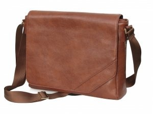 "Cool Bananas OldSchool Class1 15.4"" leather messenger bag brown (9042220)"