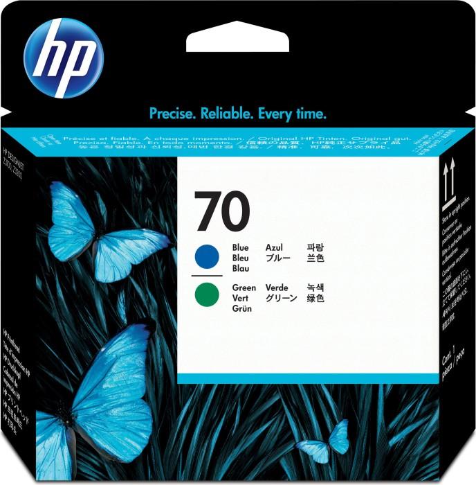 HP 70 Druckkopf blau/grün (C9408A)