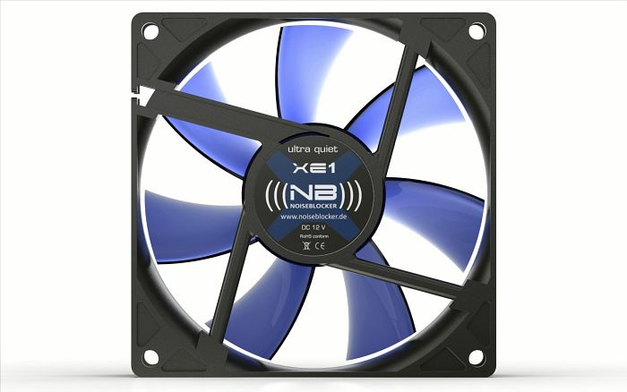 Noiseblocker NB-BlackSilentFan XE1 Rev. 3.0, 92x92x25mm, 1400rpm, 50m³/h, 17dB(A)