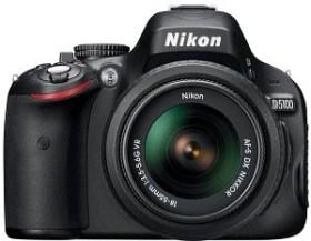 Nikon D5100 schwarz mit Objektiv AF-S VR DX 18-55mm und AF-S VR DX 55-200mm (VBA310K003)