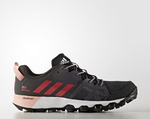 adidas Kanadia 8 Trail, Damen Laufschuhe, Schwarz (Core Black/Core Pink/Trace Grey), Gr. 38 (UK 5)