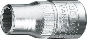 """Gedore D 20 7/16AF zöllig Außenzwölfkant Stecknuss 1/4"""" 7/16""""x25mm (6227370)"""