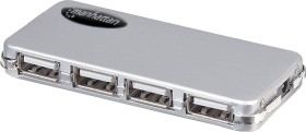 Manhattan Micro USB hub, 4x USB-A 2.0, USB 2.0 mini-B [socket] (160612)