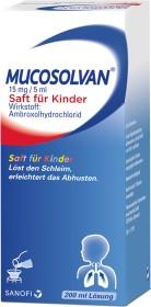 Sanofi-Aventis Mucosolvan Saft für Kinder 15mg/5ml, 200ml