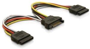 DeLOCK SATA-Stromadapter 15-Pin (SATA) auf 2x 15-Pin (SATA), Y-Kabel (60105)