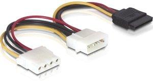 DeLOCK SATA-Stromadapter 4-Pin (IDE) auf 15-Pin (SATA) und 4-Pin (IDE), Y-Kabel (60103)
