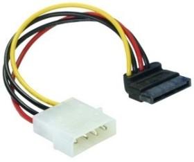DeLOCK SATA-power adapter 4-Pin [IDE] on 15-Pin [SATA] angled bottom (60101)