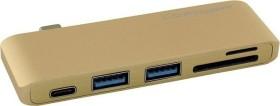 LC-Power gold Dual-Slot-Cardreader, USB-C 3.0 [Stecker] (LC-HUB-C-MULTI-2G)