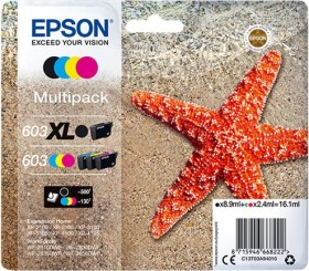 Epson Tinte 603XL schwarz/603 CMY Multipack (C13T03A94010)