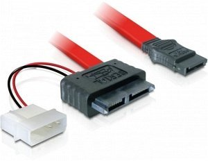 DeLOCK SATA All-in-One Kabel 0.3m, Slimline (Buchse) (84390)