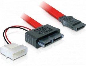 DeLOCK SATA All-in-One Kabel 0.3m, Slimline [Buchse] (84390)