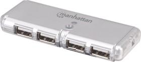 Manhattan Pocket USB-Hub, 4x USB-A 2.0, USB-A 2.0 [Stecker] (160599)