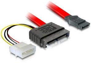 DeLOCK SATA All-in-One cable 0.3m, Slimline (plug) (84376)