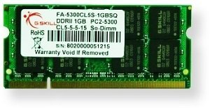 G.Skill SO-DIMM 2GB PC2-5300S CL5-5-5-15 (DDR2-667) (FA-6400CL5S-2GBSQ)