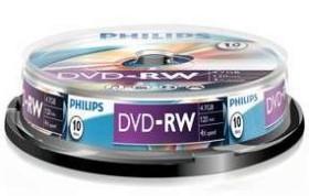 Philips DVD-RW 4.7GB 4x, 10-pack (DN4S4B10F/00)