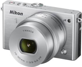 Nikon 1 J4 silber mit Objektiv VR 10-30mm 3.5-5.6 PD-Zoom (VVA213K001)