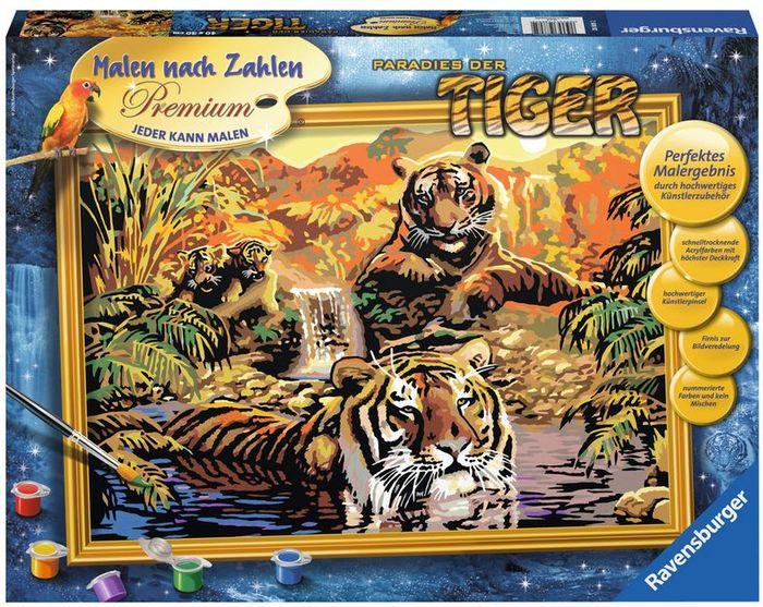 Ravensburger Malen Nach Zahlen Paradies Der Tiger 28805 Heise
