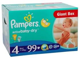 Pampers Baby-Dry Gr.4 Einwegwindel, 7-14kg, 99 Stück