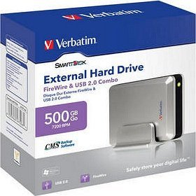 Verbatim Smart Disk 500GB, USB 2.0/FireWire (47506)