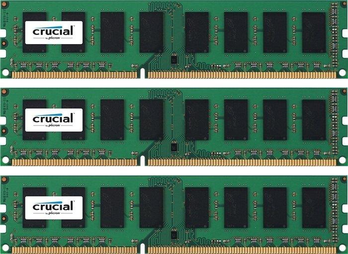 Crucial DIMM Kit 3GB, DDR3-1600, CL11 (CT3KIT12864BA160B)