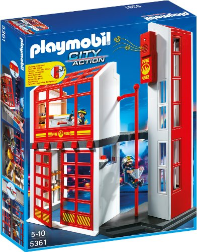 playmobil City Action - Feuerwehrstation mit Alarm (5361)