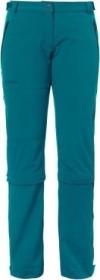 VauDe Farley Stretch Capri T-Zip II Hose lang green spinel (Damen) (04577-675)