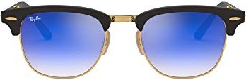 Ray Ban Ray-Ban Sonnenbrille »clubmaster Folding Rb2176«, Schwarz, 901s7q - Schwarz/blau