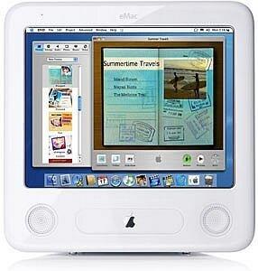"Apple eMac G4, 17"", 1.00GHz, 512MB RAM, 160GB HDD, SuperDrive"