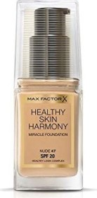 Max Factor Healthy Skin Harmony Miracle Foundation 47 Nude, 30ml