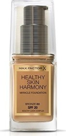 Max Factor Healthy Skin Harmony Miracle Foundation 80 Bronze, 30ml