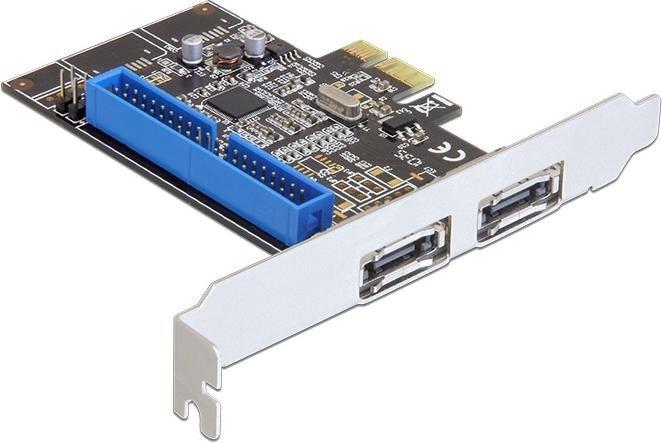 DeLOCK 1x IDE/2x eSATA 6Gb/s, PCIe 2.0 x1 (89292)