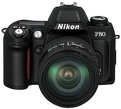Nikon F80 (SLR) with third-party manufacturer lens
