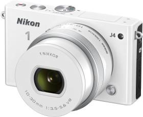 Nikon 1 J4 weiß mit Objektiv VR 10-30mm 3.5-5.6 PD-Zoom (VVA212K001)