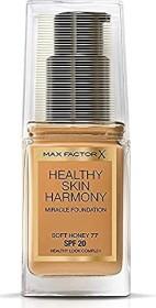 Max Factor Healthy Skin Harmony Miracle Foundation 77 Soft Honey, 30ml