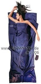 Cocoon TravelSheet silk cottage sleeping bag rhino/cornflower