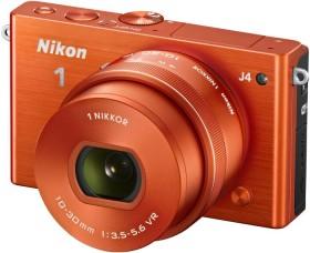 Nikon 1 J4 orange mit Objektiv VR 10-30mm 3.5-5.6 PD-Zoom (VVA214K001)