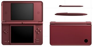 Nintendo DSi XL Basic unit, wine red, various bundles