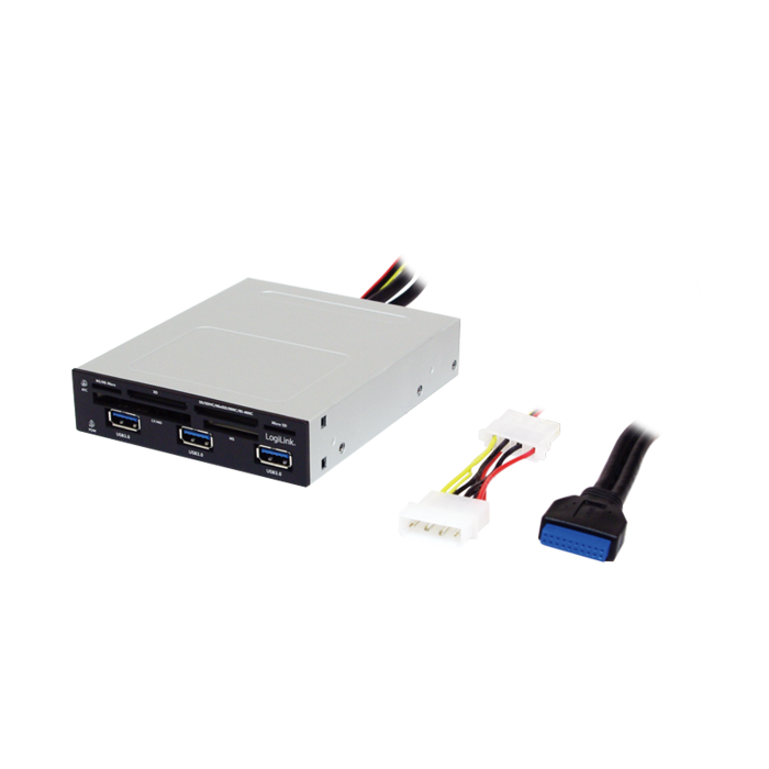 LogiLink Multi-Slot-Cardreader, USB 3.0 19-Pin Stecksockel [Stecker] (UA0151)