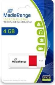 MediaRange USB Speicherstick Color Edition 4GB weiß/rot, USB 2.0 (MR970)