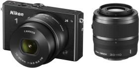 Nikon 1 J4 schwarz mit Objektiv VR 10-30mm 3.5-5.6 PD-Zoom und VR 30-110mm 3.8-5.6