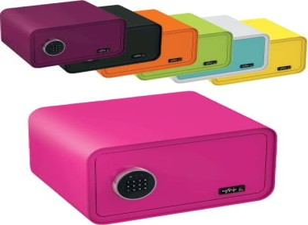 Basi mySafe 430 Tresor, pink, elektronisches Zahlenschloss (2018-0001-PI)