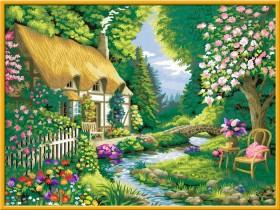 Ravensburger Malen nach Zahlen Cottage Garden (28843)