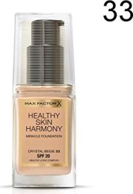 Max Factor Healthy Skin Harmony Miracle Foundation 33 Crystal Beige, 30ml