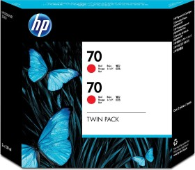 HP ink 70 red, 2-pack (CB347A)
