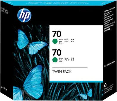 HP ink Nr 70 green, 2-pack (CB348A)