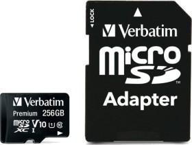 Verbatim microSDXC R90 256GB Kit, UHS-I U1, Class 10 (44087)