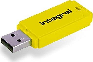Integral Neon gelb 32GB, USB-A 2.0 (INFD32GBNEONYL) -- via Amazon Partnerprogramm
